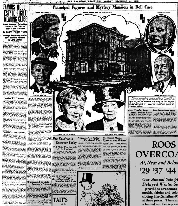 SF Chronicle, 31 Dec 1923.