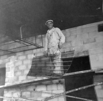 1959. Contractor Joe LoPresti on the job. Photo courtesy Diane LoPresti Christensen.
