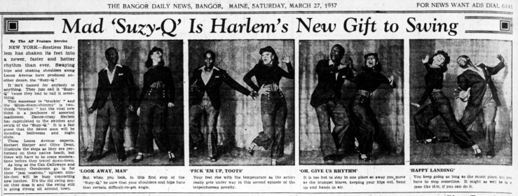 How to do the Suzy-Q. Bangor (ME) Daily News from an AP piece, 27 Mar 1937. Newspapers,com