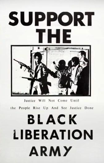 Black Liberation Army poster. 1970c.