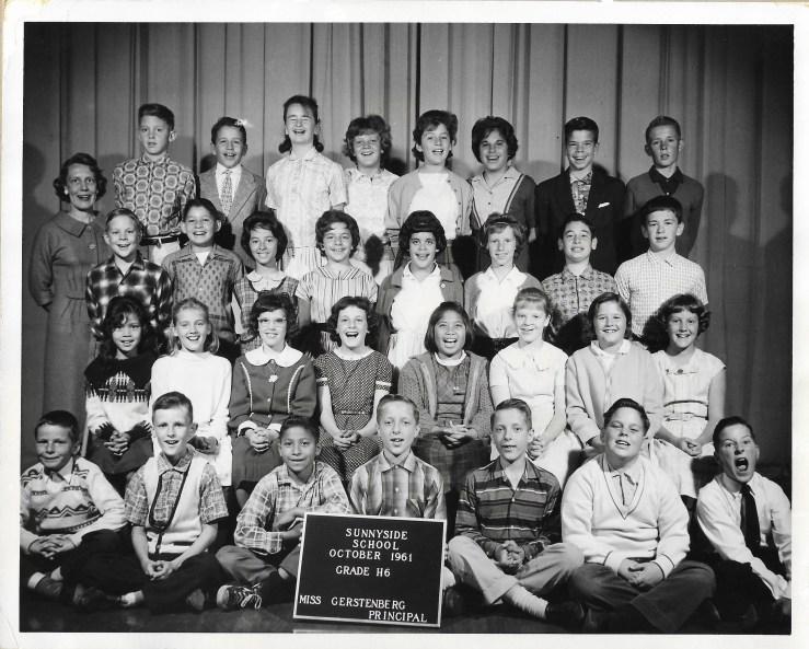 1961. Sixth grade class, Sunnyside School, San Francisco. Photo courtesy Jeanne Molinare Malarky.