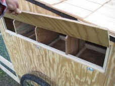 Custom Chicken Tractor Nesting Boxes