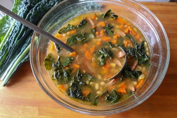 White Bean Kale Sausage Soup