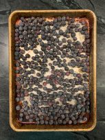 Spread berries in a single layer on a sheet pan before placing in the freezer.