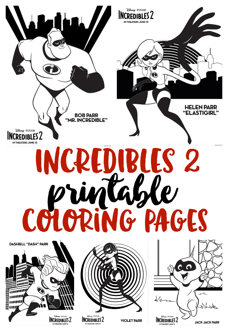 Incredibles2 In Theaters June 15 Incredibles Movie Coloring Pages Sunny Sweet Days