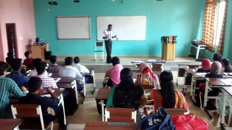 English class for MBA students @ TIMS, Edappal. http://www.talentims.org/