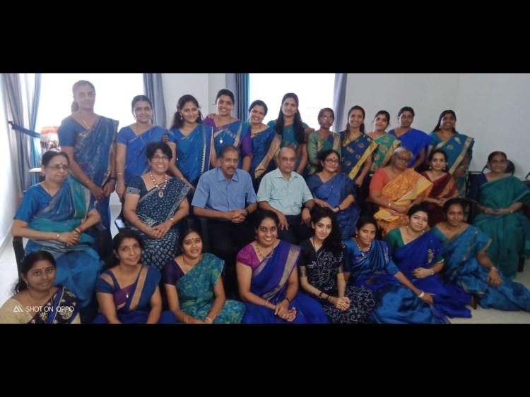 With Bhartiya Vidya Bhavan teacher-trainees