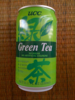 UCC Green Tea in Can