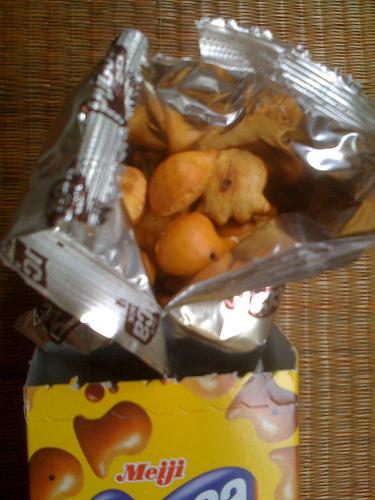 Japanese Snack Meiji Pucca Choco Pretzel Fish