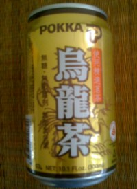Can of Pokka Oolong Tea - Chinese Label