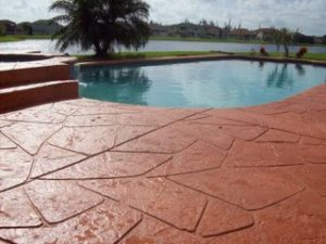 pool deck paint vs stain what s best for concrete pool decks