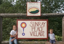 Peace Village Sign