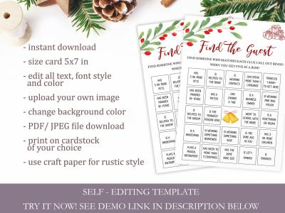 Find the Guest - Christmas Bridal Shower Game