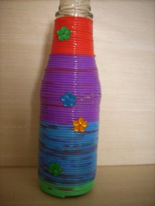 completed flower vase