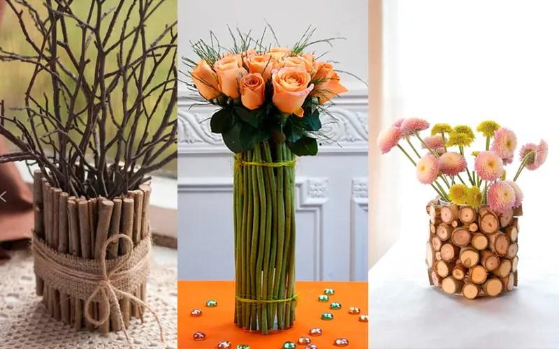 03642ea255e Ako ozdobiť vázu vlastnými rukami pomocou prírodných materiálov? Rovnako  ako u iných materiálov na lepenie, môžete použiť PVA, horúcu taveninu,  moment.