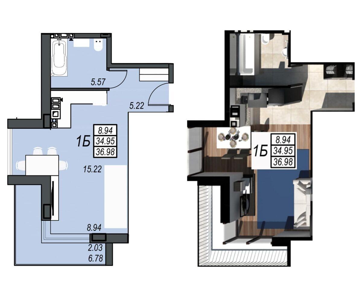 Планировка квартиры: 150