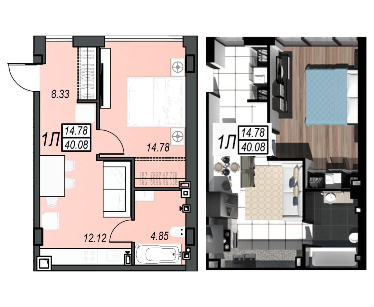 Планировка квартиры: 212