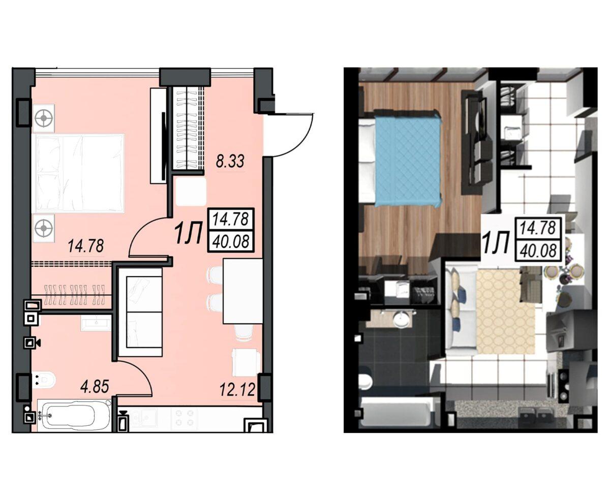 Планировка квартиры: 160