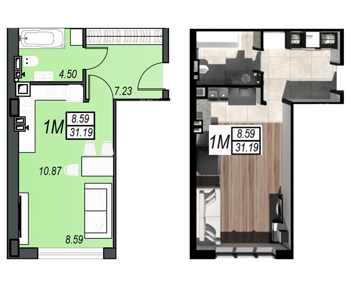 Планировка квартиры: 164