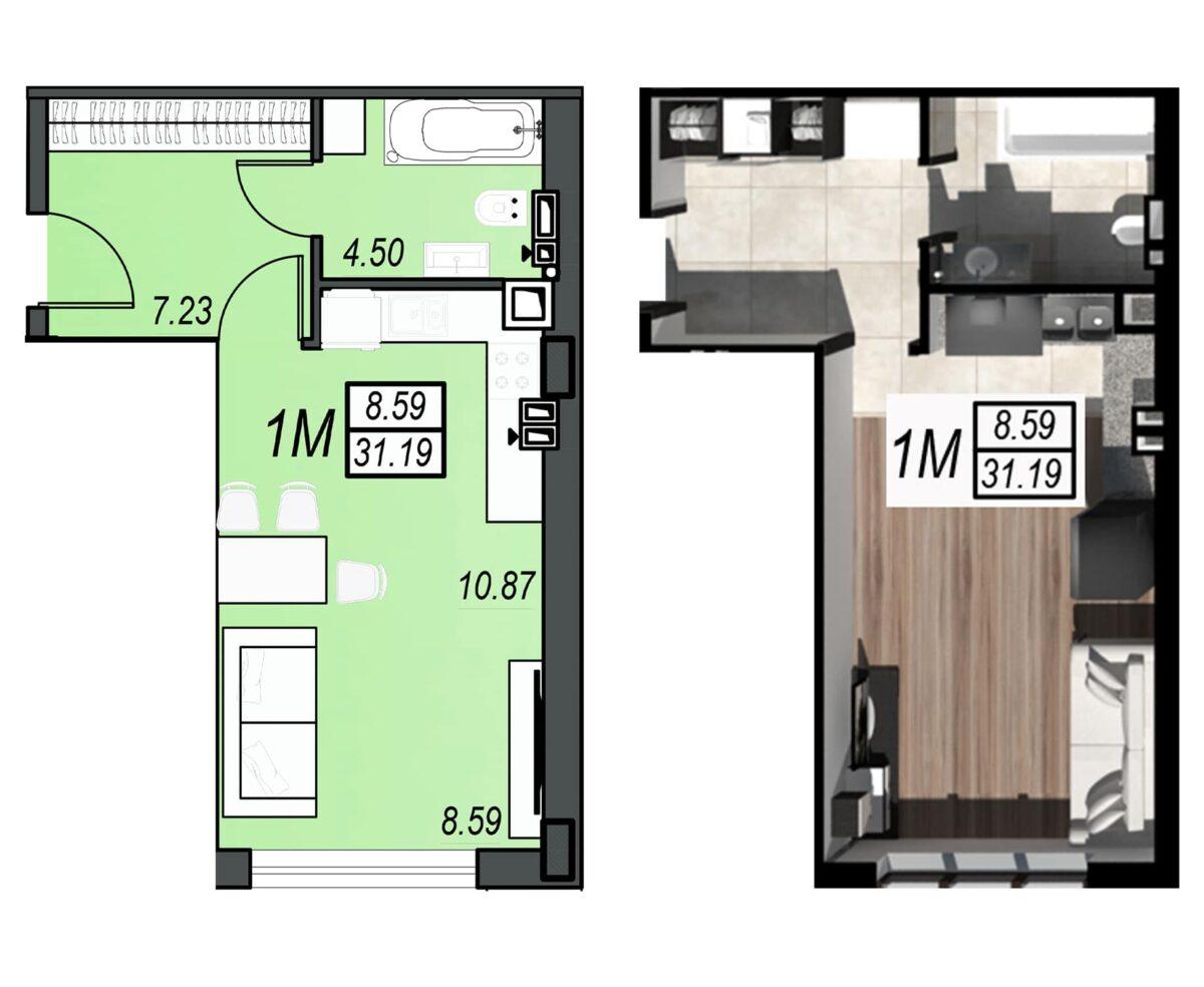 Планировка квартиры: 218