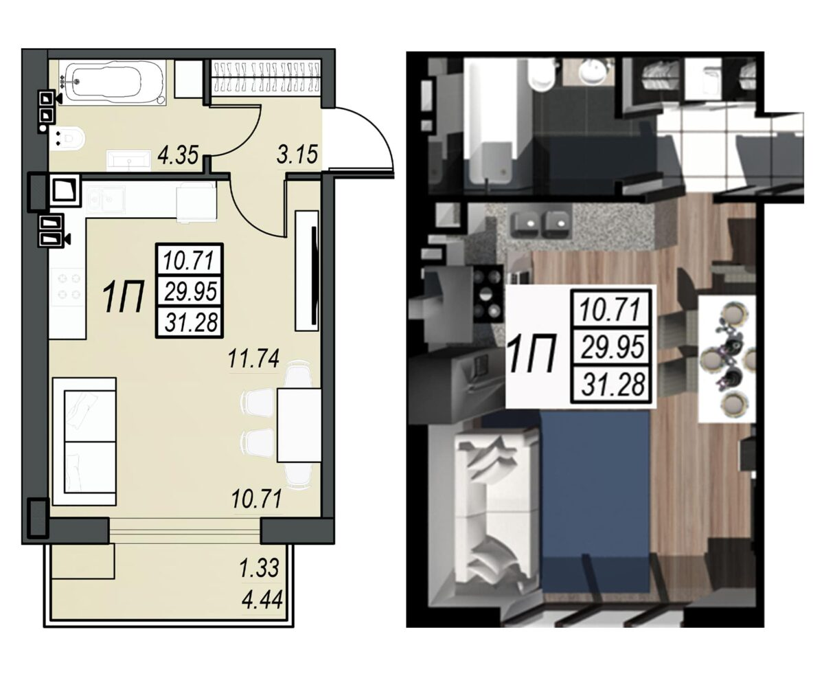 Планировка квартиры: 106