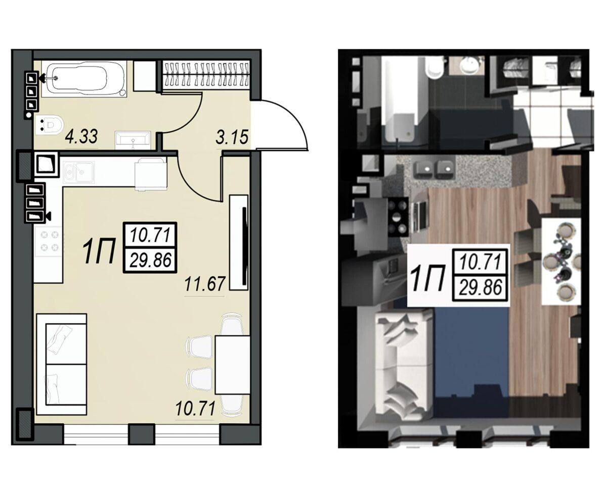 Планировка квартиры: 111
