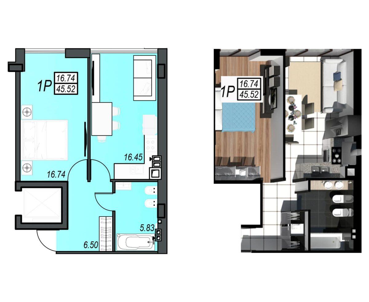Планировка квартиры: 41