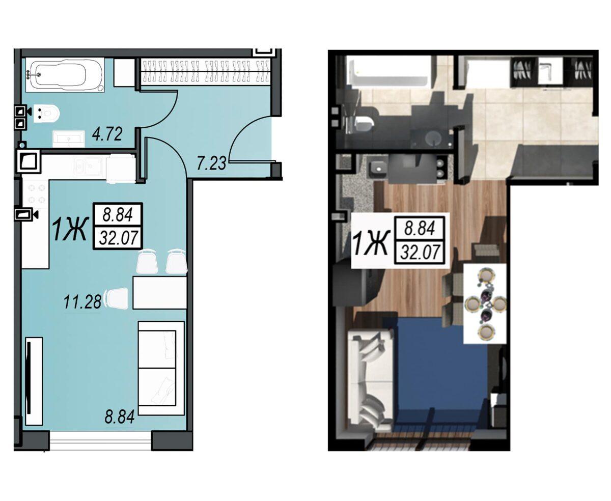 Планировка квартиры: 25