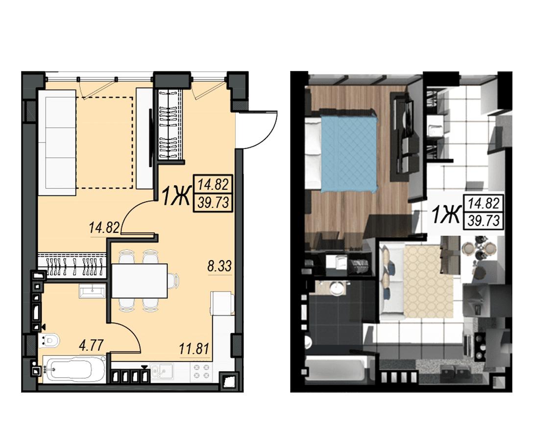Планировка квартиры: 228А
