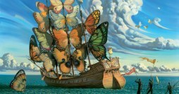 Departure of the Winged Ship - Vladimir Kush