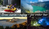 Bromo sunrise songa rafting ijen crater