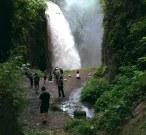 Belawan waterfall from ijen crater