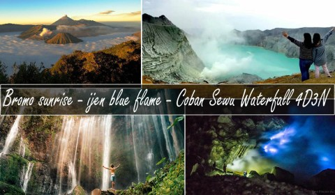 mt bromo ijen tumpak sewu waterfall 4 days 3 nights