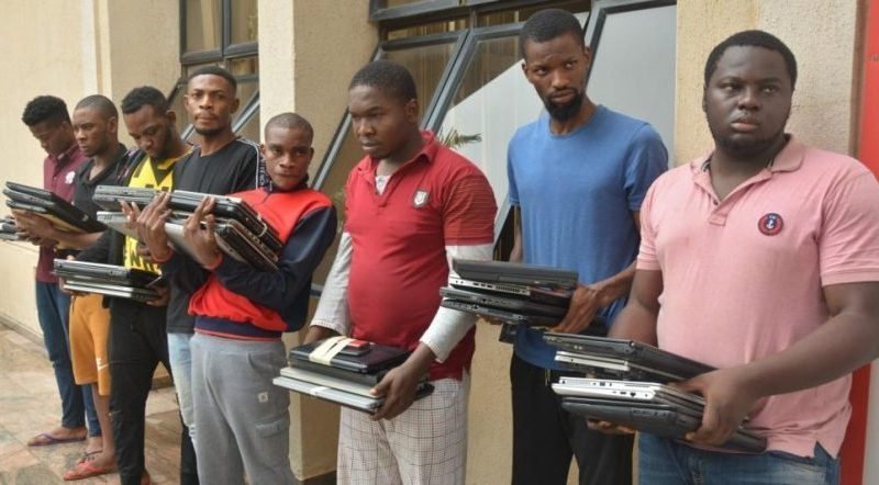 Just In: 33 suspected internet fraudsters arrested in Imo hideout