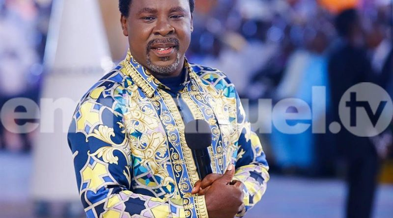 T.B Joshua prays for Nnamdi Kanu, says he is the anointed one, in a new prophecy