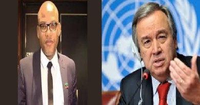 Biafra: Nnamdi Kanu finally submits petitions on Buhari's govt to UN
