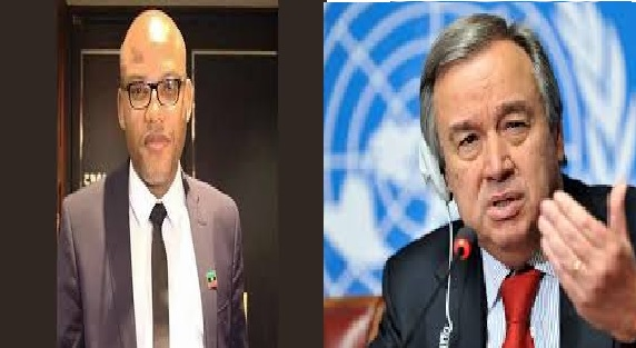 Nnamdi Kanu gained recognition at UN