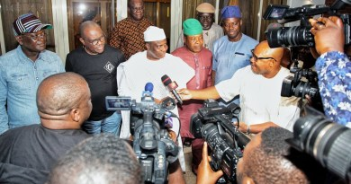 PDP Govs Hold Panic Meeting In Port Harcourt Over Wike