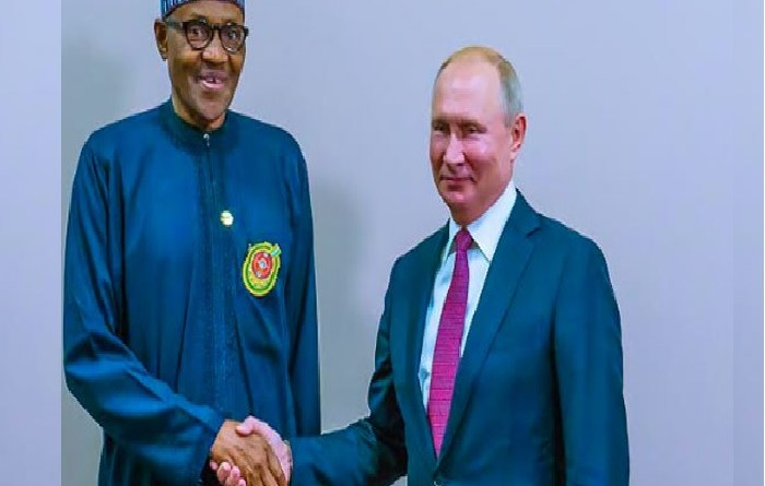 Buhari packing blessings in Russia for Nigerians with both hands