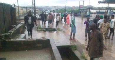 JUST IN: Flood sweeps away two boys into canal in Lagos
