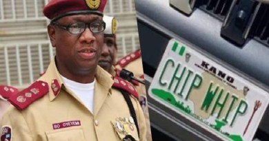 """""""CHIP WHIP"""" Plate Number is fake, not from us -FRSC"""