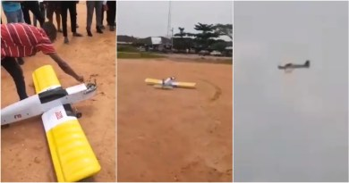 VIDEO: FUTO final year student successfully test runs Aeroplane he built by himself