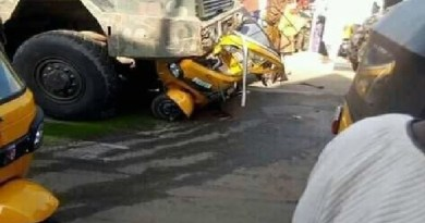 Military truck crushes Keke NAPEP, two persons dead, others injured