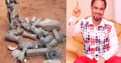 Prophet Destroys Shrine in Anambra state, villagers angry