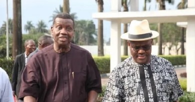 Pastor Adeboye visits Gov. Wike at Port Harcourt (Photos)