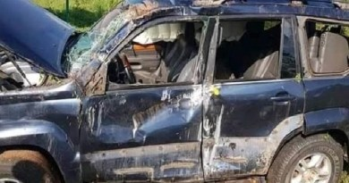 Just in: APC chieftain SUV somersaults several times but he survives