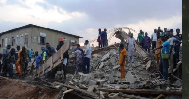 Breaking: Man trapped as three-storey building collapses in Ago Palace, Lagos