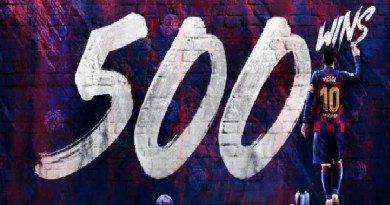 Messi hits new record with 500 wins as FC Barcelona player