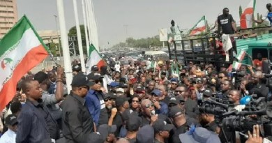 Secondus, Obi, Dino Melaye, others lead PDP massive protest in Abuja
