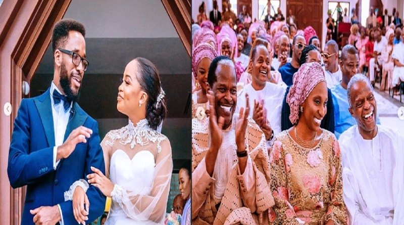 Amazing photos of the Church wedding of Vice President's son, Laolu and his wife, Sekemi